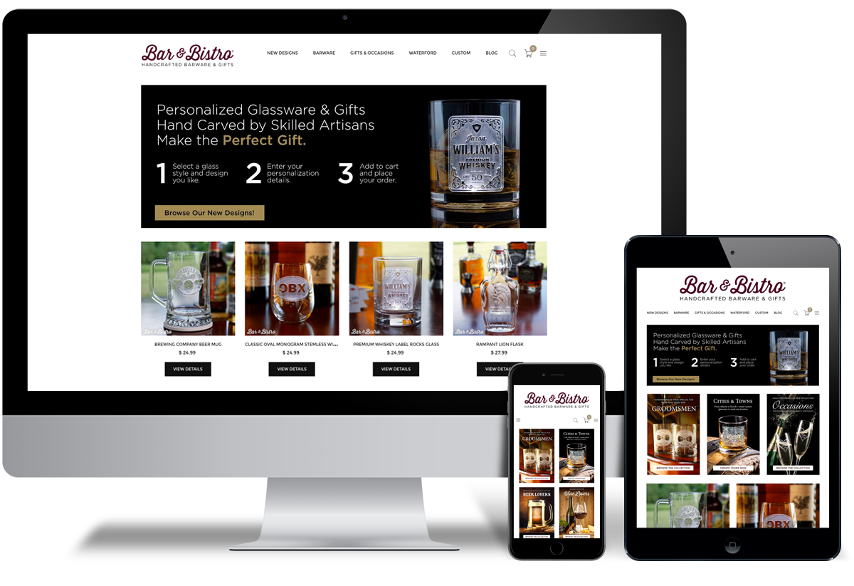 Bar and Bistro eCommerce Design