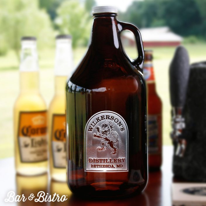 Rampant Lion Growler Design