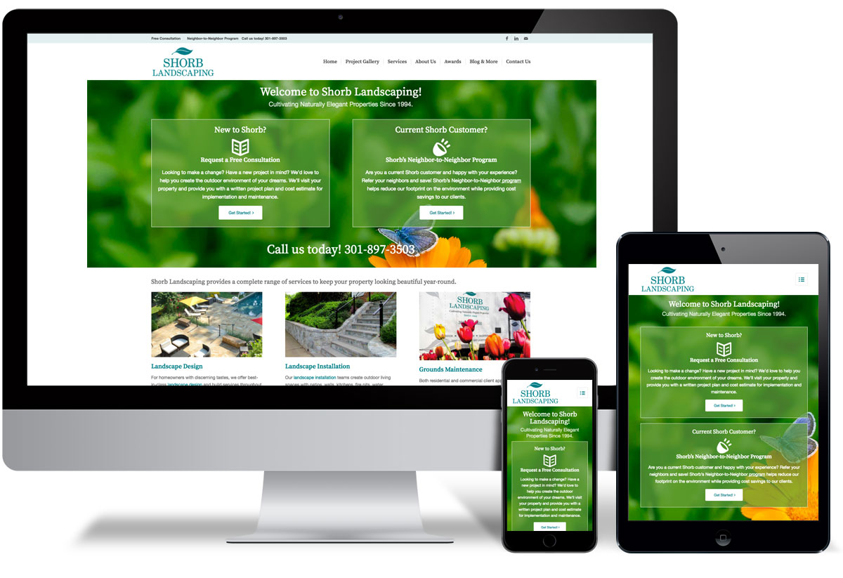 Shorb Landscaping Website